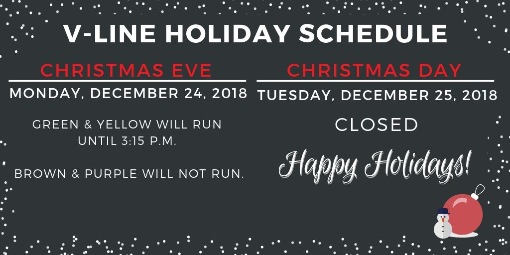 V-Line Holiday Schedule (1)