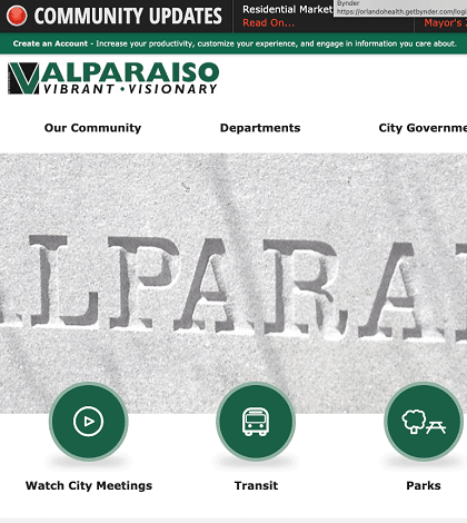 Valpo Launches Updated Website Image
