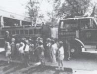 Children at a station tour