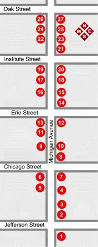 Michigan Avenue tour map