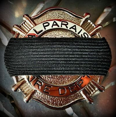 VFD Badge with Mourning Band